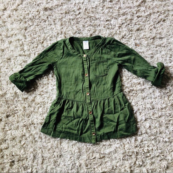 Carter's Other - CARTERS • Button Down Dress • Army Green
